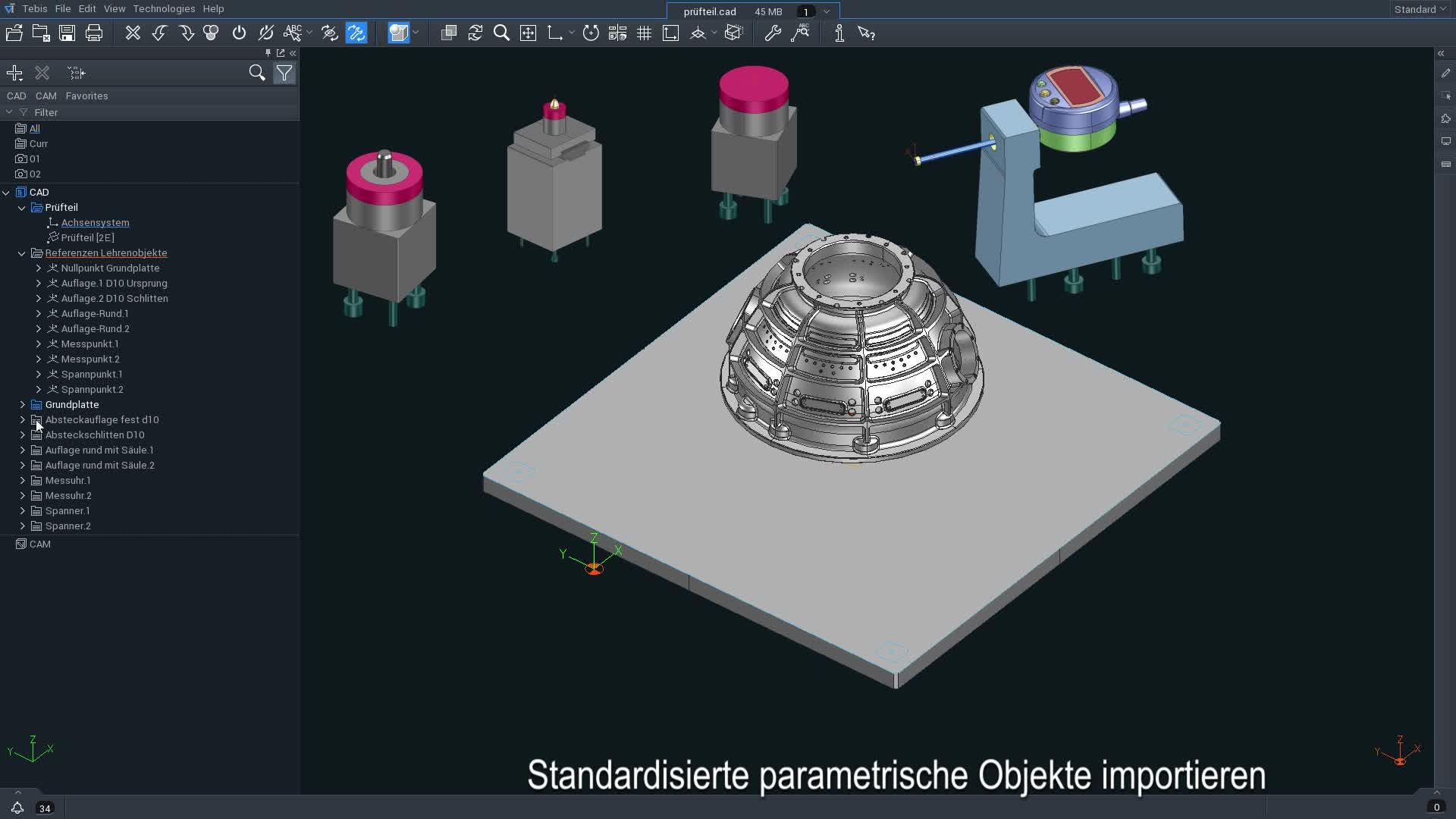 Tebis Version 4.1 mit noch mehr CAD/CAM Automation / CAD