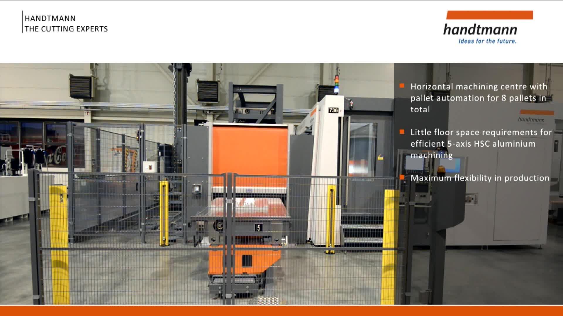 Handtmann HBZ CC pallet automation system with pallet rack