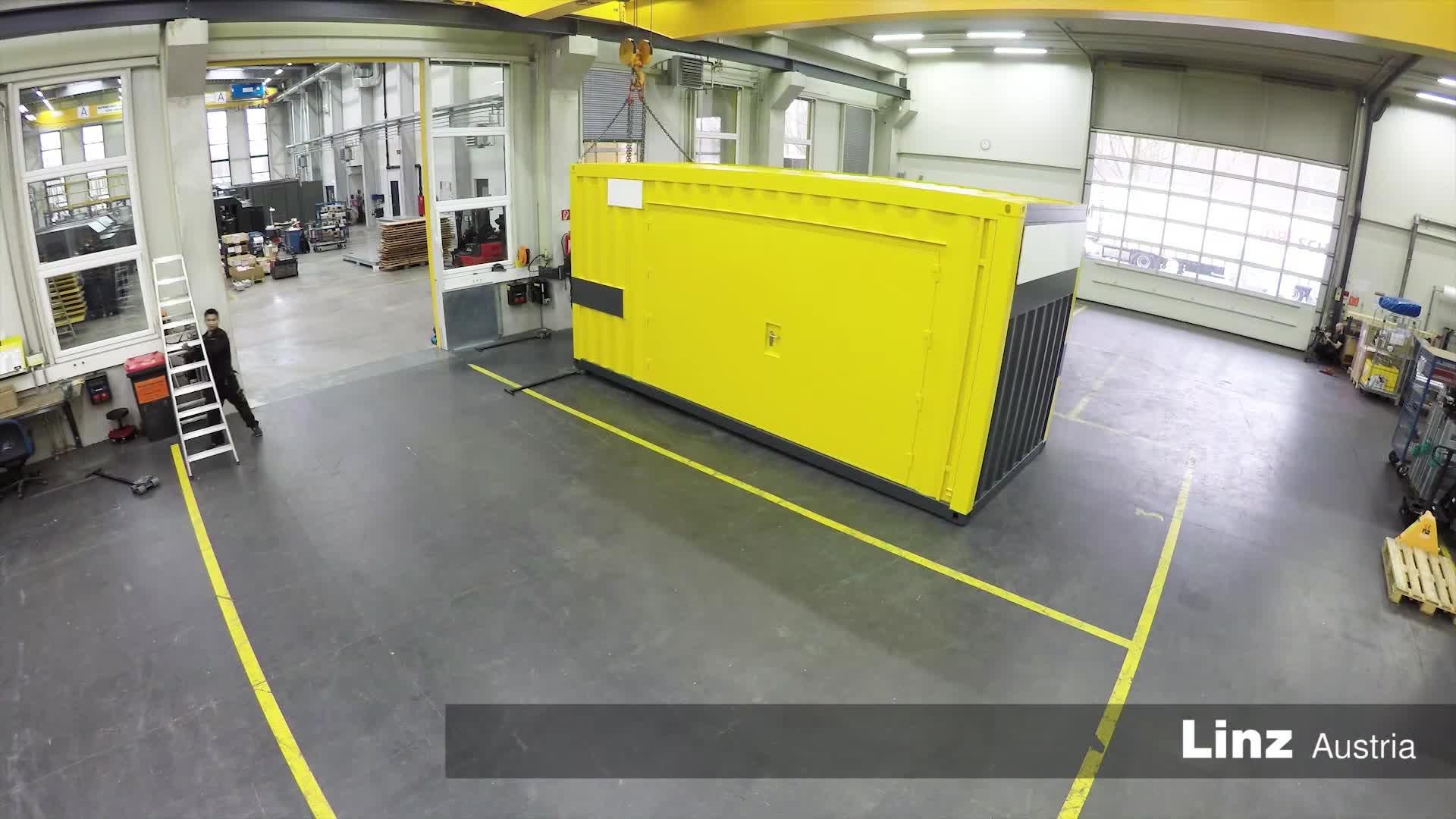Contain-Air - ölfreie Druckluftstation im Container