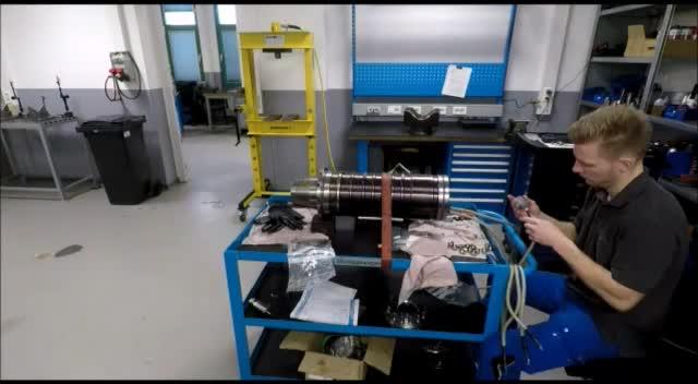Reparatur einer Franz Kessler Motorspindel