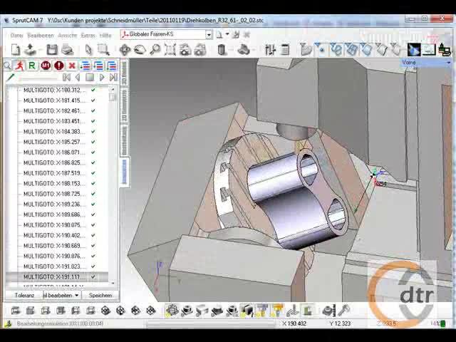 SprutCAM 5-Achsen Prozess