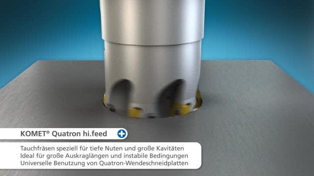 KOMET® Quatron hi.feed -Fräser