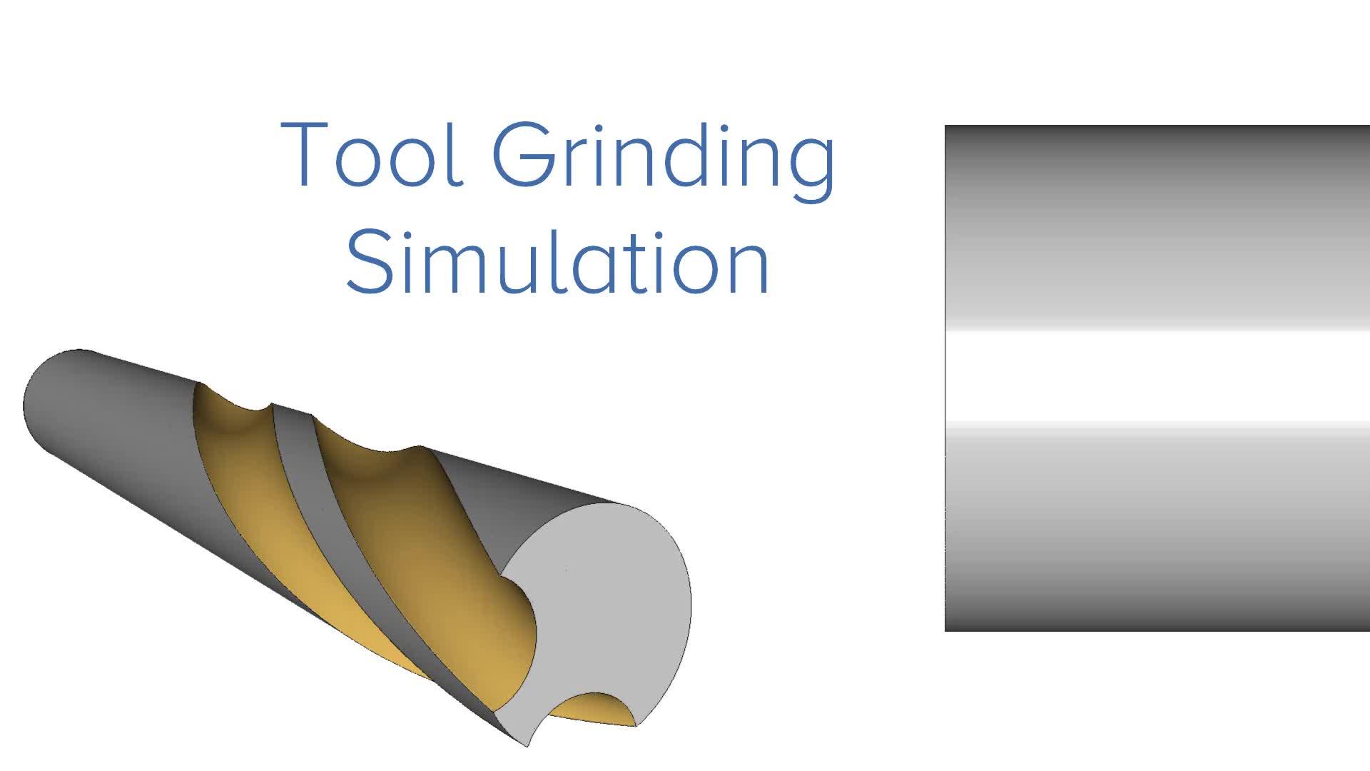 Tool Grinding Simulation