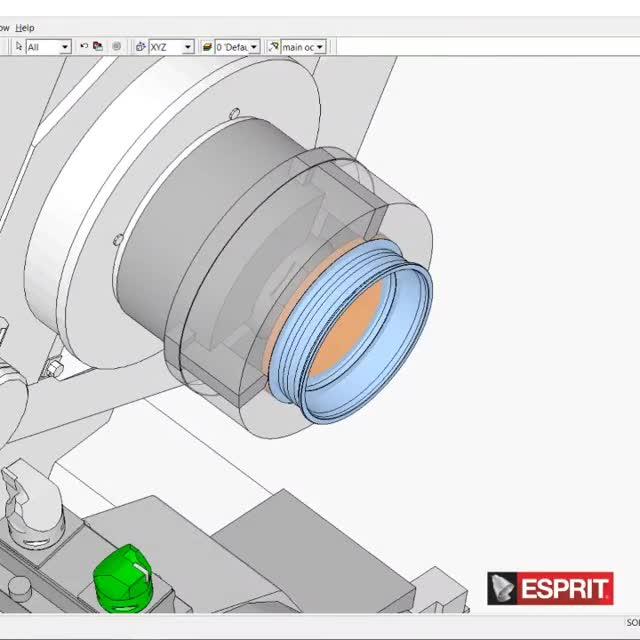 Drehfräsen in der ESPRIT CAM-Software