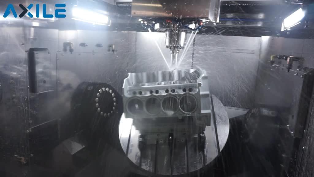 V8 engine machining on AXILE G8