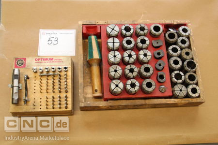 Lot of collet chuck and mini mill -