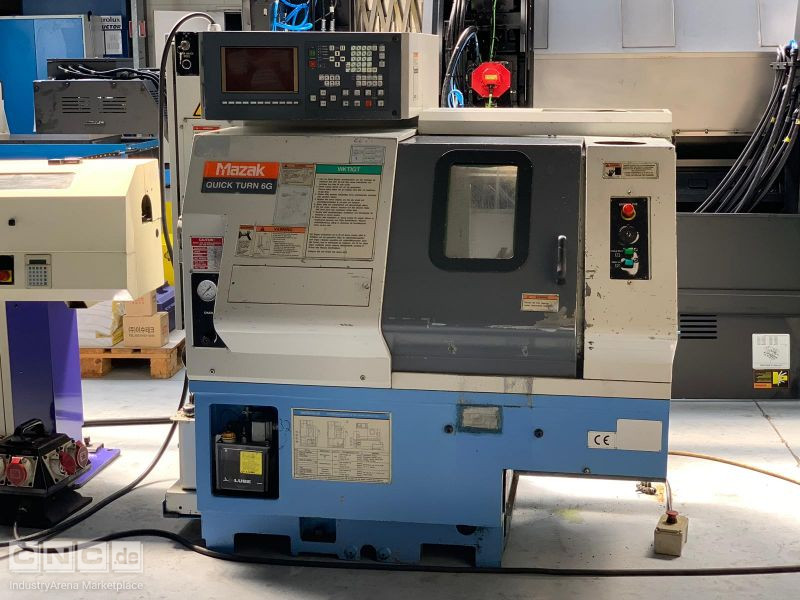 Mazak Quick Turn 6 G CNC Lathe incl. Bar Feeder