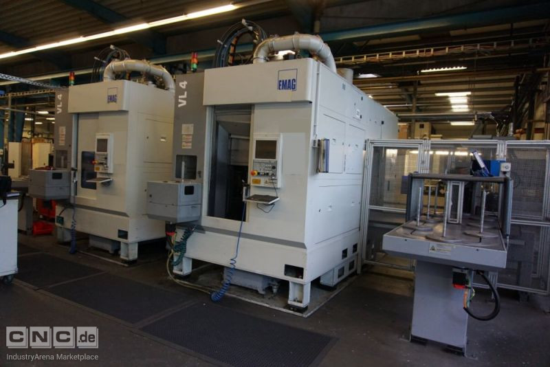 2 x EMAG VL 4 CNC-Vertical Turning Machines with TrackMotion