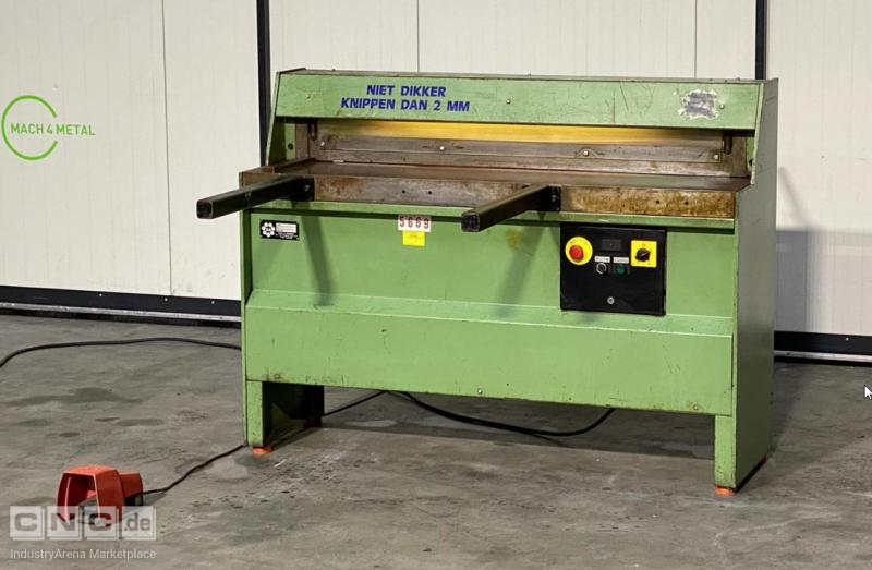 HM JBS 1250 x 2.5 motorized Guillotine
